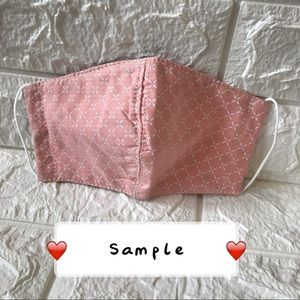 Accessories - Pink Face mask cover
